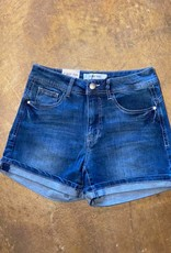 C'EST TOI Rolled Cuffed Denim Shorts
