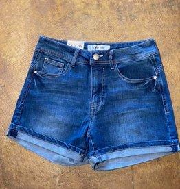 C'EST TOI Rolled Cuffed Denim Shorts