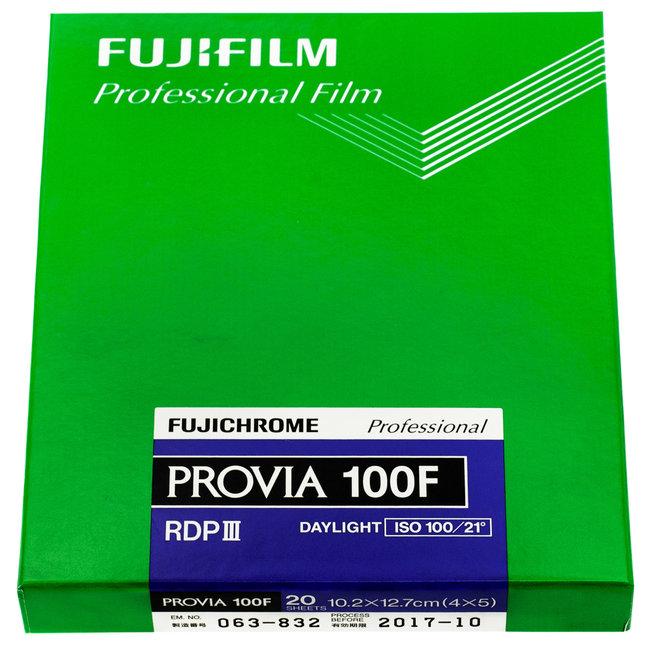 Fuji Provia 100f 4x5 RDPIII 20 Sheets