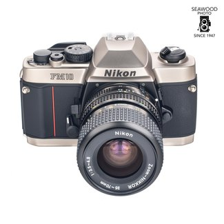 Nikon New In Box Nikon FM10 Kit With 35-70mm F/3.5-4.8 Lens And Leather Case