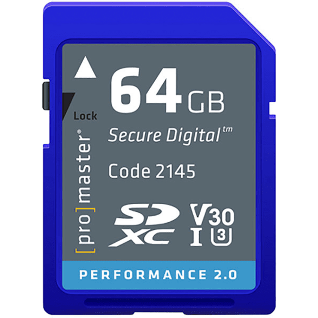 Promaster Promaster 64gb SDXC Performance SD Card