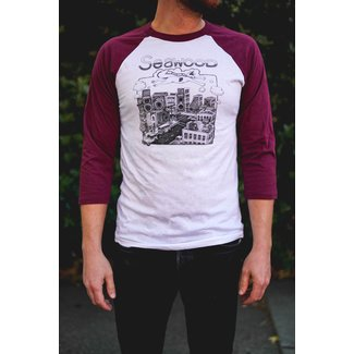 Seawood Baseball Shirt Burgundy Small