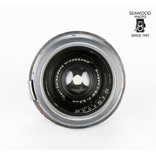 Contax Zeiss 35mm 3.5cm f/2.8 Biogon for Contax RF Cameras GOOD
