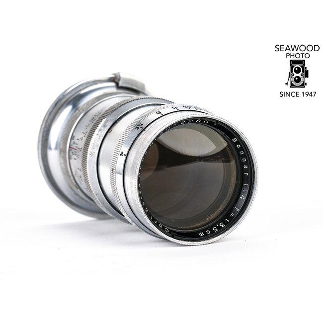 Contax 13.5cm (135mm) Zeiss Sonnar f/4 for Rangefinder Cameras GOOD