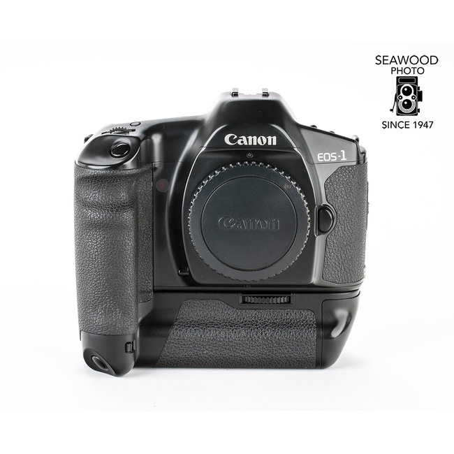 Canon EOS-1 35mm Body w/Power Drive Booster GOOD+