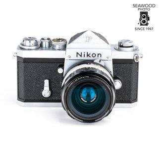 Nikon Nikon F Early #649XXX  and 35mm f/2.0 Lens GOOD