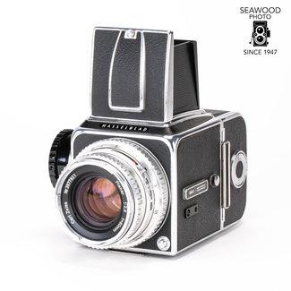 Hasselblad Hasselblad 500c w/80mm f2.8 WLF &12 Back GOOD+