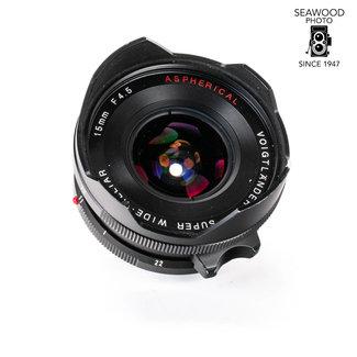 Voigtlander Voigtlander 15mm f/4.5 Super-Wide Heliar W/ Finder Leica M Mount GOOD+