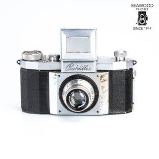 Praktina Praktiflex w/Zeiss 50mm f/2.8 Tessar GOOD-