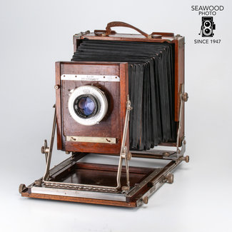 "Deardorff Deardorff 8x10 w/8.5"" Ilex Lens 8x10 & 4x5 Backs GOOD"