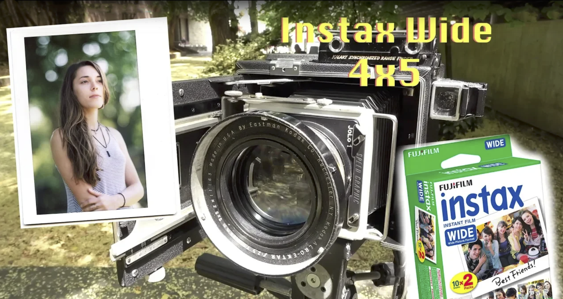 Shooting Instax Wide in ANY 4x5 Camera without modifications