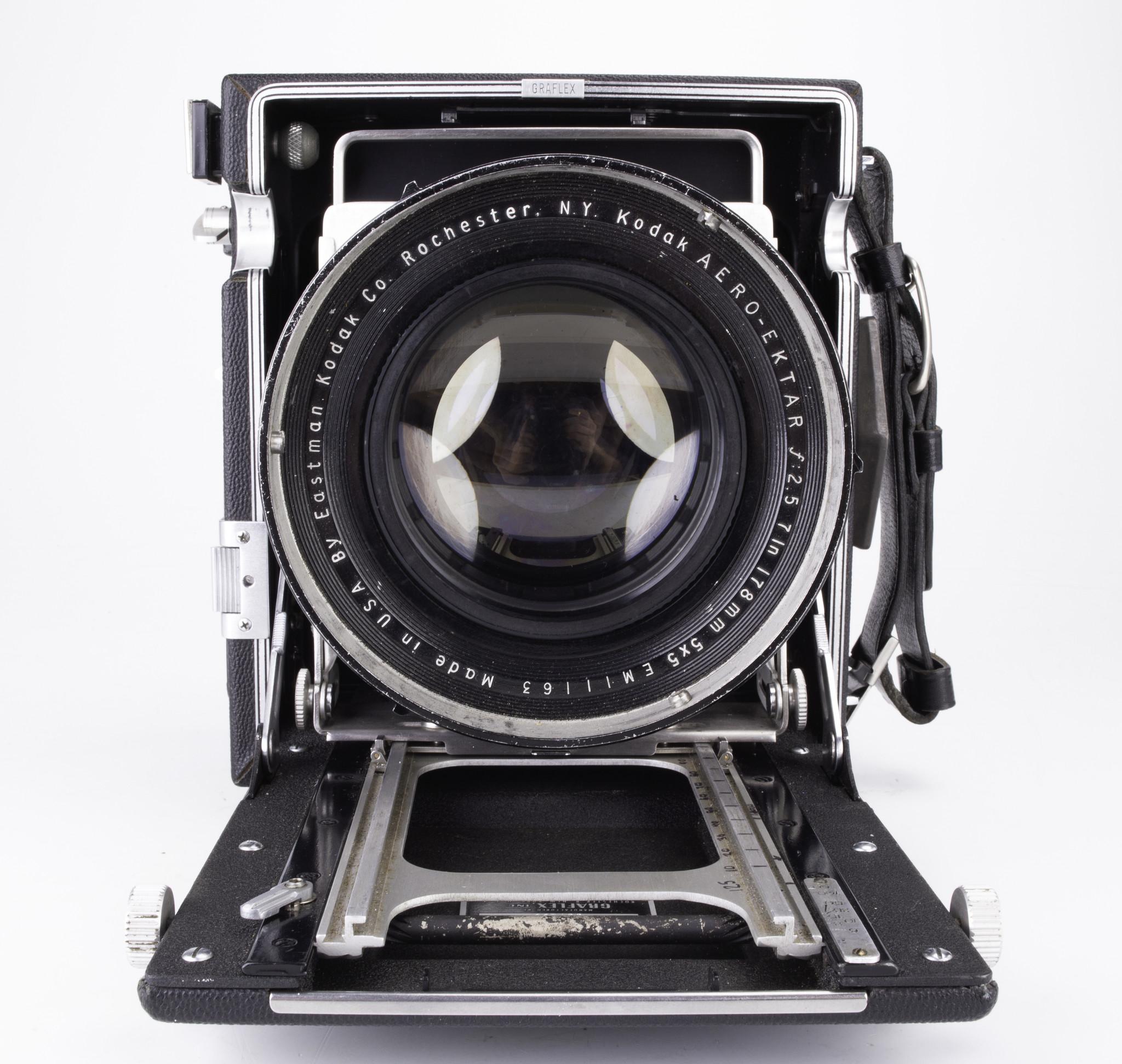 Kodak 178mm Aero Ektar f/2.5 Lens on Speed Graphic