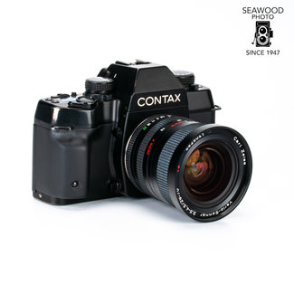 Contax Contax ST w/TLA 30 Flash and 2 lens kit 28-70 and 80-200 GOOD+
