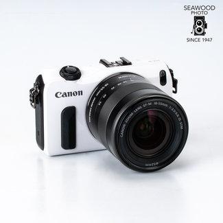 Canon Canon EOS-M 18mp  w/18-55mm f/3.5-5.6 IS, 90EX Speedlight, EXCELLENT
