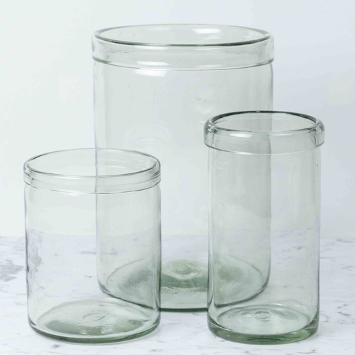 Recycled Glass Cylinder Vase - Large