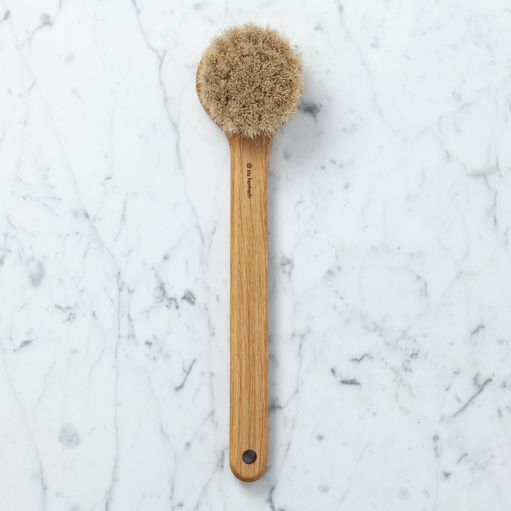 Iris Hantverk Swedish Long Handled Lovisa Bath Brush - Round Head - Horsehair