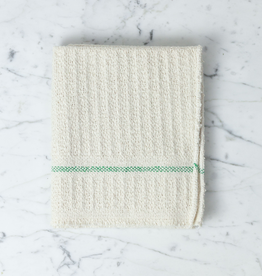 Iris Hantverk Swedish Recycled Cotton Waffle Weave Cleaning Dish Cloth with Green Stripe 22x18