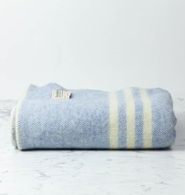 MacAusland Wool Lap Blanket - Light Blue Tweed - 50 x 60""