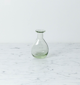 Handblown Curved Glass Bud Vase- 4 1/2