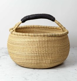 "Natural Grass Bolga Shopper Basket - 15"" x 18"""