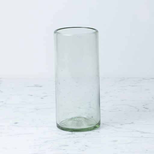 Mexican Recycled Glass Cylinder Vase 9x4