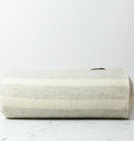 """MacAusland MacAusland Wool Queen Size Blanket - Light Grey Tweed - 78 x 104"""""""