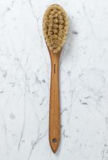 Iris Hantverk Swedish Long Handle Bath Brush Oval With Handle - Tampico and Horsehair