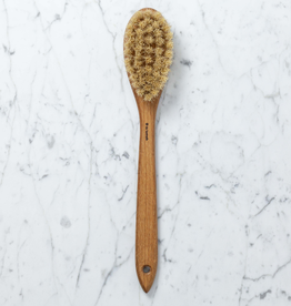 Iris Hantverk Swedish Long Handle Bath Brush Oval With Handle - Tampico and Horsehair