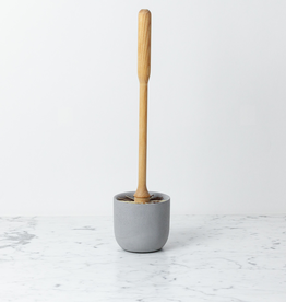 Iris Hantverk Birch Toilet Brush in Light Grey Concrete Stand