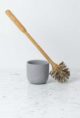 Iris Hantverk Birch Toilet Brush in Light Grey Concrete Stand