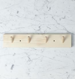 "Iris Hantverk Swedish Birch  Peg Rack with 4 Pegs - 15"""