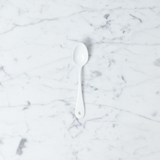 White Enamel Tea Spoon