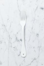 White Enamel Dessert Fork