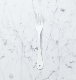 Saikai Toki White Enamel Dessert Fork