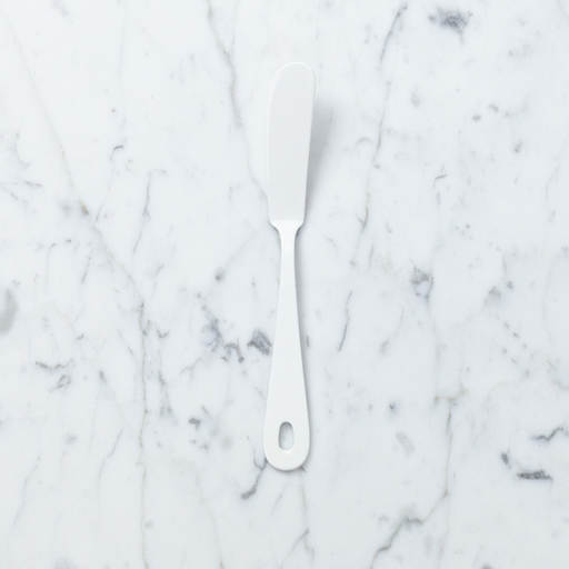 White Enamel Butter or Cheese Knife