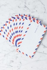 "Sweet Bella Airmail Envelopes -Set of 10 - 4 x 7.5"""