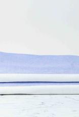 """Two Tone Chambray Bath Towel - Blue/White - 25 x 51"""""""