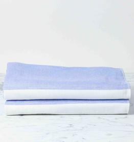 Two Tone Chambray Bath Towel - Blue/White