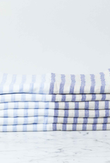 Linen Border Striped Hand Towel - Navy