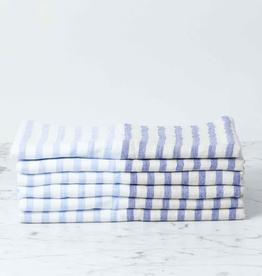 Linen Border Striped Hand Towel - Navy