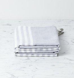 Morihata Square Towel with Hanging Loop - Light Grey