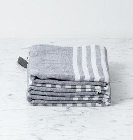 Morihata Square Towel with Hanging Loop - Dark Grey