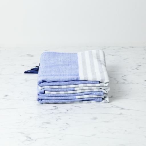 Square Towel with Hanging Loop - Blue