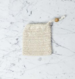 Soap Pouch For Soap Remains - Loofa Wash Cloth