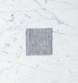 Lithuanian Linen Coaster - Grey/White Stripe