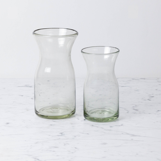 Handblown Glass Carafe - Short - 1 liter