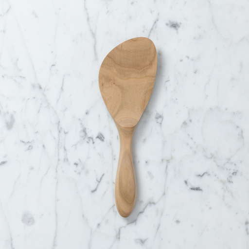 Rounded Mulberry Rice Paddle Shamoji Spatula - 8in.
