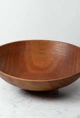 Nordic Woodenware Hand Turned Bowl Cherry - XXL - Over 20D