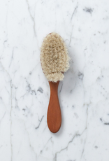 Small Soft Pearwood and Goat Hair Baby Hair Brush