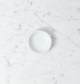 Mori Round Extra Small Plate - White - Dot Ring